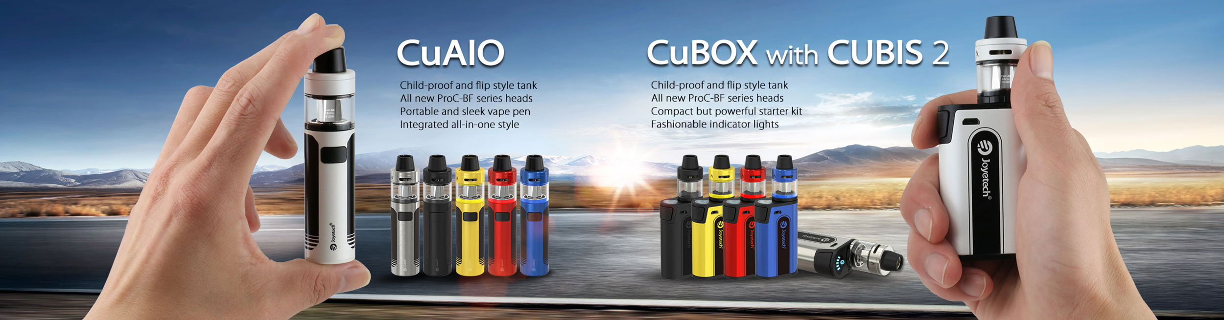 CuAIO and CuBox electronic cigarette